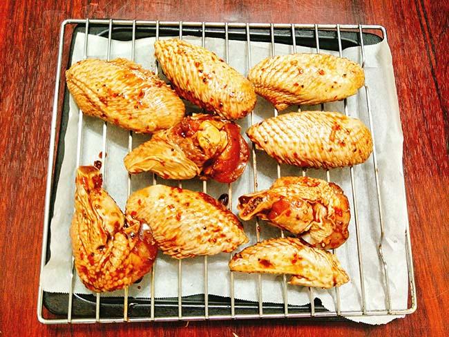 Nướng cánh gà 200 C