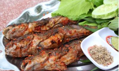 Cá thòi lòi nướng muối ớt ngon trứ danh ở vùng đất Mũi