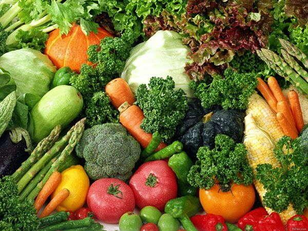 Chế độ ăn với các loại rau xanh