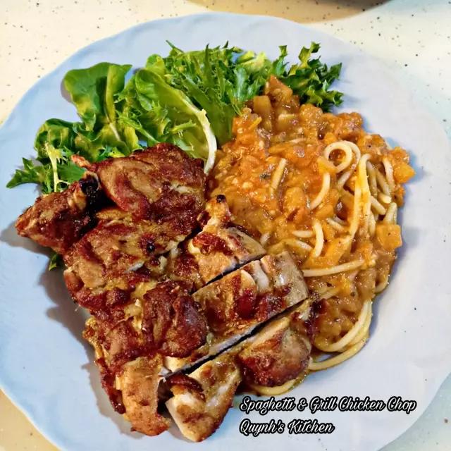 Spaghetti Gà Nướng - Chicken chop