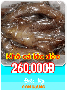 Khô cá lóc dẻo